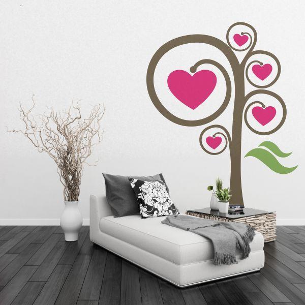 Rbol de corazones un vinilo decorativo con dise o for Tu vinilo decorativo