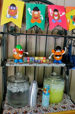 "Potpourrimommy: Mr. Potato Head Birthday Party- M keeps randomly feeling us that he wants a ""potato party"" for his next birthday. No idea where he got that idea, but pinning this in case it sticks (we've got quite awhile, but he's not one to easily forget)!"