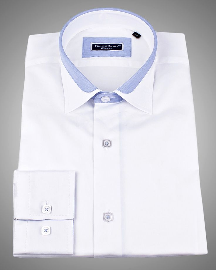 Mens Designer Shirts Lyon White Satin Mtm And