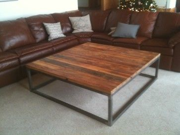 Wood And Metal Coffee Table : Simple Wood And Metal Coffee Table.