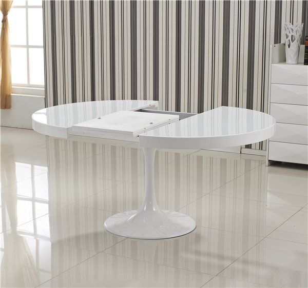 78 ideas about table ronde extensible on pinterest Table ronde extensible blanche
