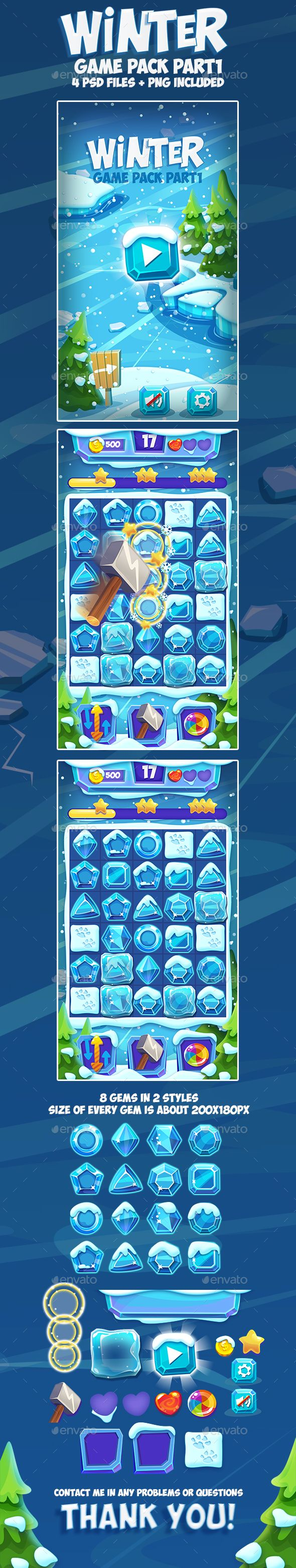 Christmas Winter Frozen Game Pack 1 | Download kit : https://graphicriver.net/item/christmas-winter-frozen-game-pack-1/18837581?ref=sinzo #Game #Kits Game #Assets