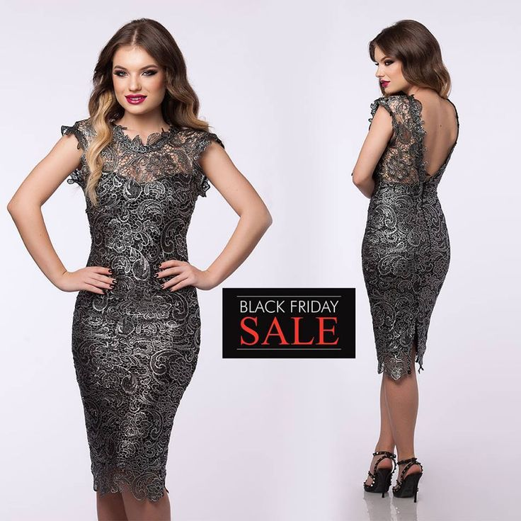 Awesome elegant lace dress with V-cut back, for the most important events this season!