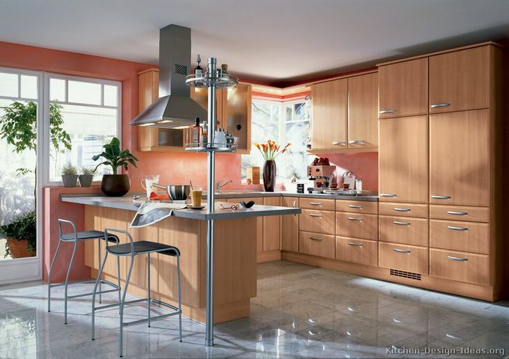 Best Kitchen Peninsula Ideas Modern Light Wood Kitchen 400 x 300
