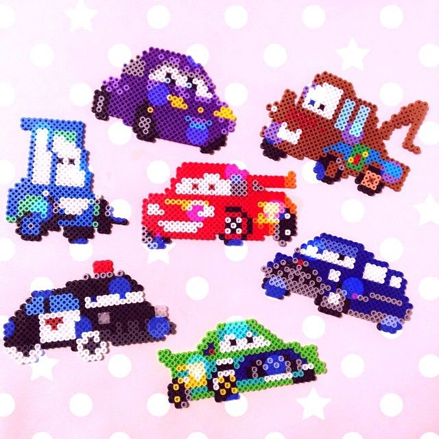 Cars characters perler beads - inspiration for pixelated cars characters