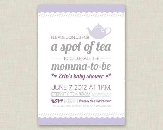 tea party bridal shower invitation baby shower invitation