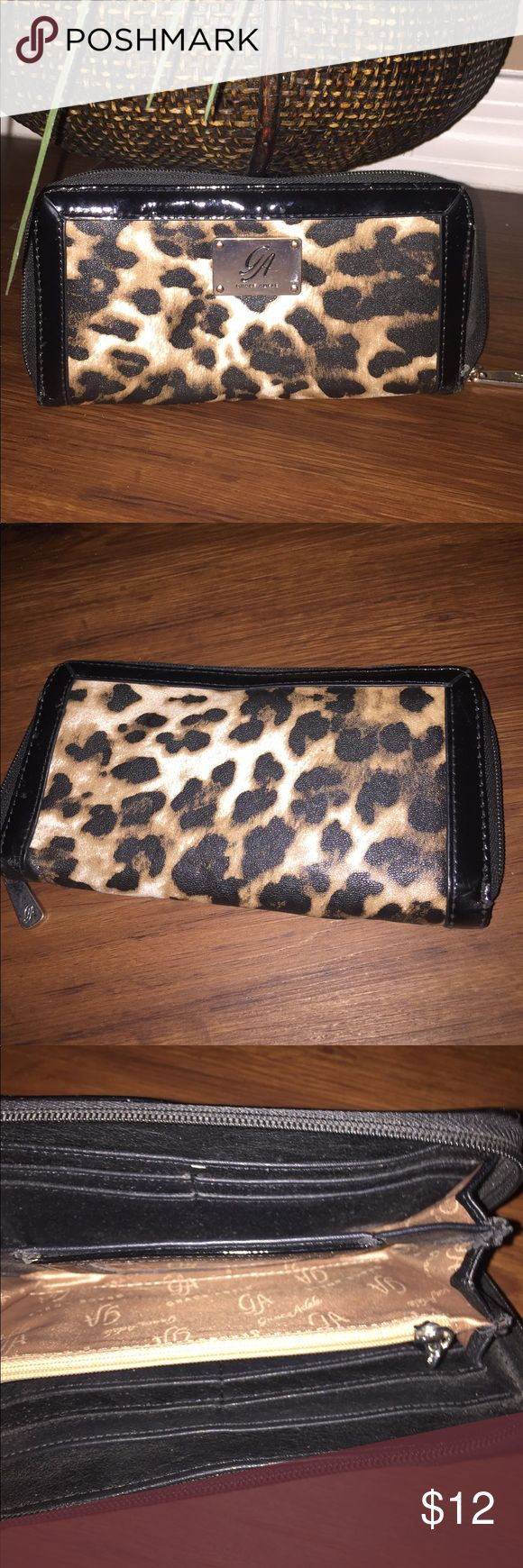 GRACE ADELE Cheetah wallet holder Adele Grace wallet - used minor scuffles- good condition 8 x 4 grace adele Bags Wallets