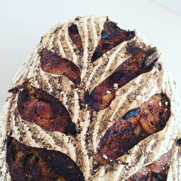 Sourdough fruit & nut loaf just out of the oven