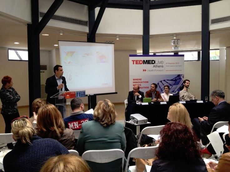 "Kostas Varsamos (TEDMED Live Athens Team member) spoke about the experience with the name ""Unlock your feelings"""