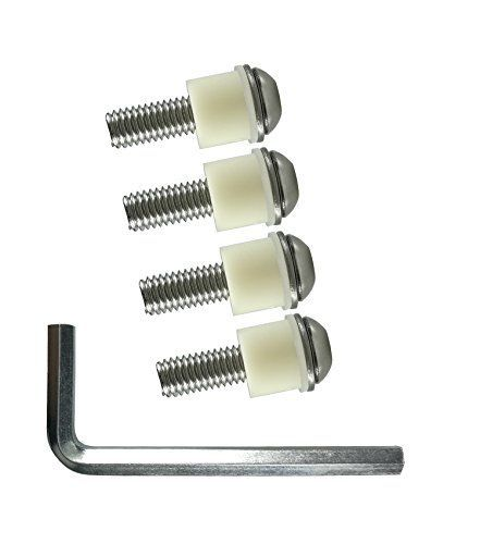 "M8x30mm TV Wall Mount Bolts Screws for Samsung TV • Stainless Steel Spacers - Pack of 4  M8 Bolt Size for TVs 41"" & Larger. Hex cut to provide maximum control and bolt is (30mm)(about 1.18In) in length.  Made from very high grade 304 stainless steel will stand test of time and load. 100% rust-proof  Very high quality Pa66 Nylon spacers provide unflinching support to ensure optimum gap. PC+ABS for easier wire management and circulation;These screws and spacers were the exact size you ne..."