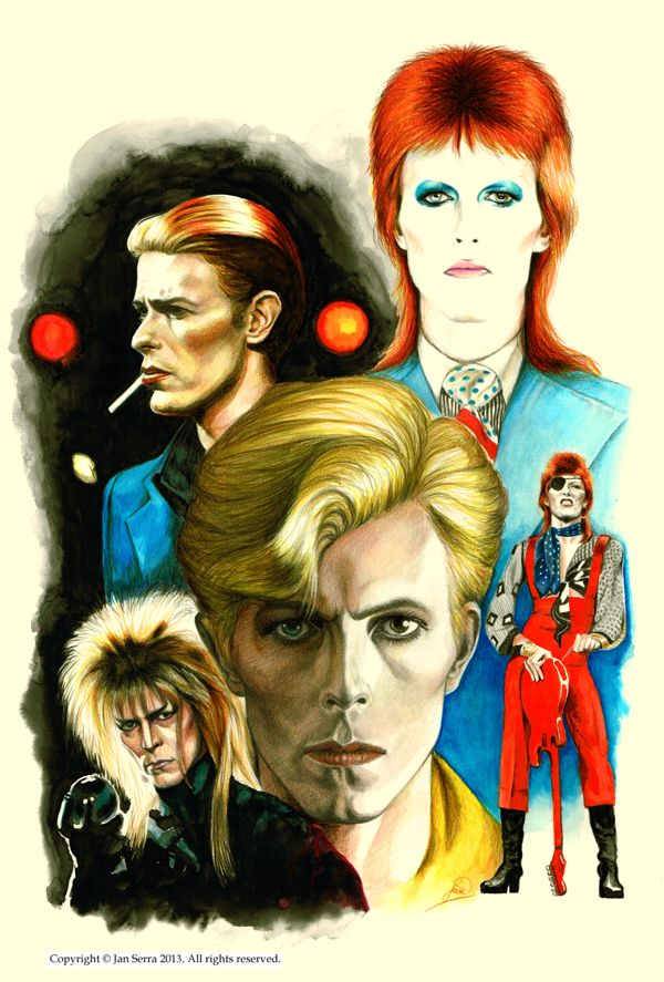 David Bowie Changes by Jan Serra, via Behance