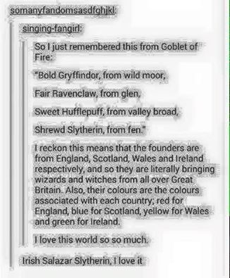 No but how does Ireland as Slytherin even make sense surely theyd be more well suited to be Hugflepuff??
