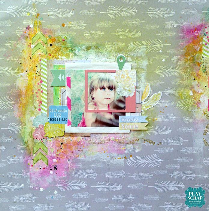 Reto 414 Playscrap-Wilma 2-Explosión de color