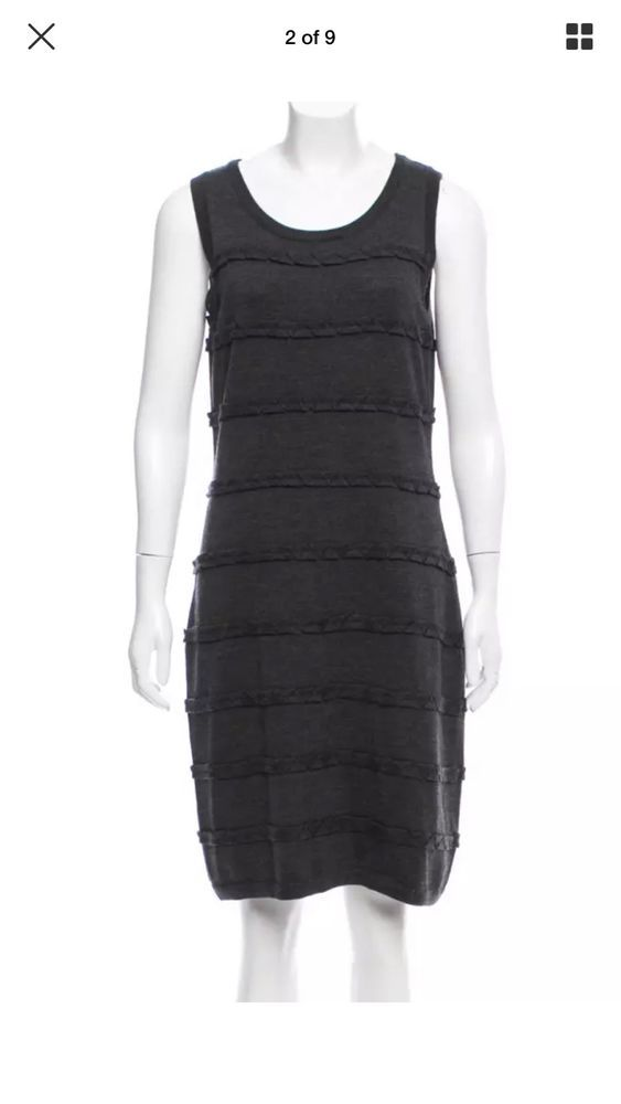 aab06ba408fcca CALVIN KLEIN Womens Charcoal Gray Cable Knit Sweater Dress Sleeveless SZ M   fashion  clothing  shoes  accessories  womensclothing  dresses (ebay link)