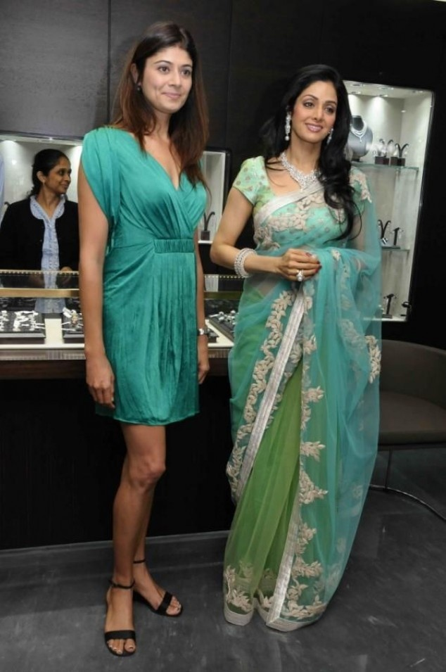 Sridevi recently spotted at the launch of Begani jewels | Fandiz India - Latest Indian Fashion Trends