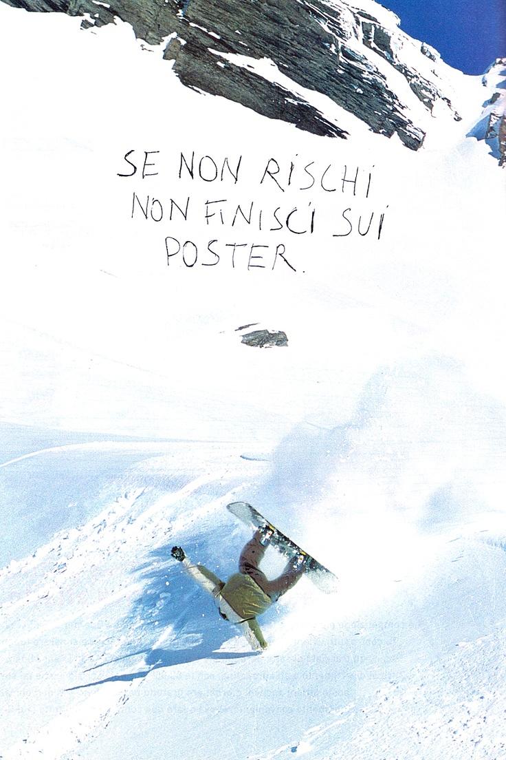 Se non rischi non finisci sui poster (pubblicità Nike 2001)