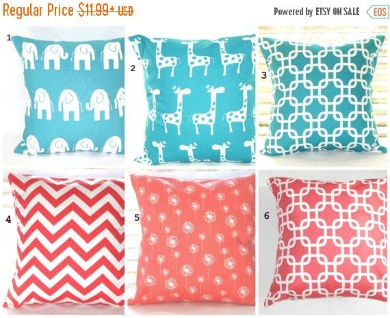 Clearance Pillow Cover C Pillows Turquoise Decorative Throw