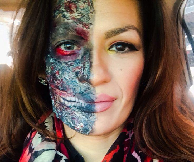8 best Harvey Dent Makeup Tutorial images on Pinterest | Halloween ...