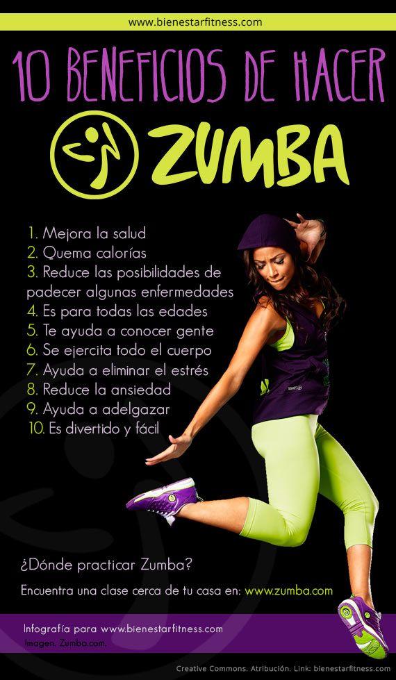 Zumba beneficios   #zumba #infografia #infographics