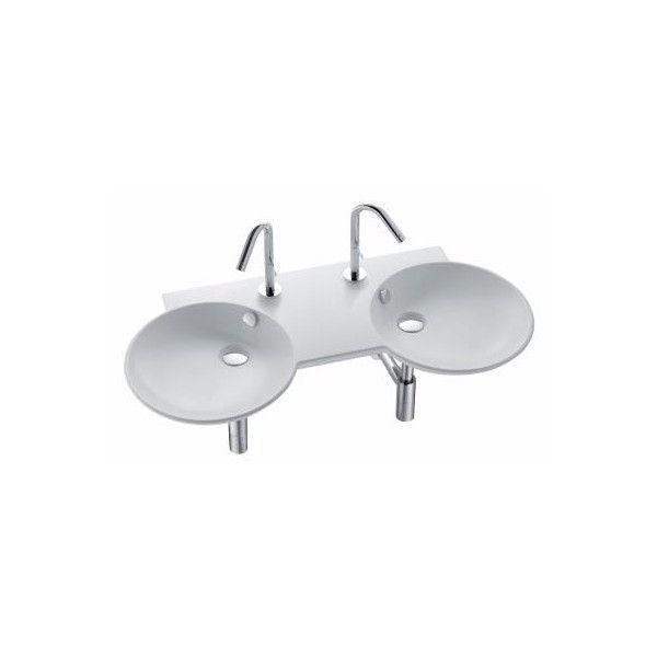plan vasque double 100 x 46 cm formilia spherik jacob delafon - 100 Cm Plan Vasque