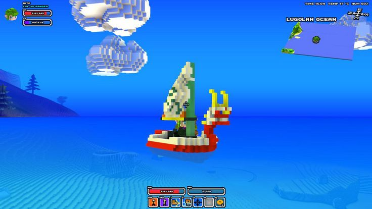 Cube World was partly inspired by Zelda, so it totally makes sense to mod the boat from Wind Waker i