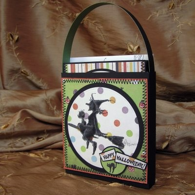 Witchin' Silhouettes in a Hag Bag: cards & tote - bjl: Silhouette, Card, Hag Bag, Halloween Ideas