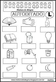 Autoditado para alfabetização com a letra L