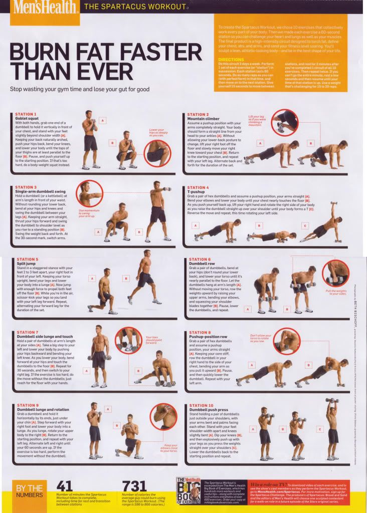 This is an awesome interval workout that pushes you to the limits and challenges your determination in the best way. Developed by Men's Health, it's an amazing plan designed to sculpt the entire body and burn fat.
