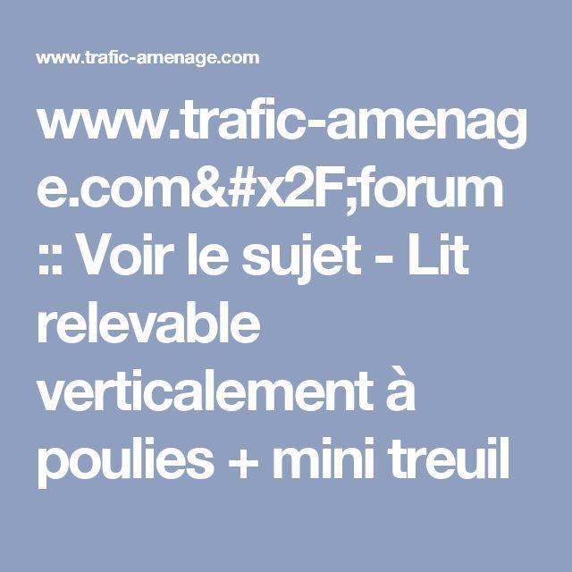 www.trafic-amenage.com/forum :: Voir le sujet - Lit relevable verticalement à poulies + mini treuil