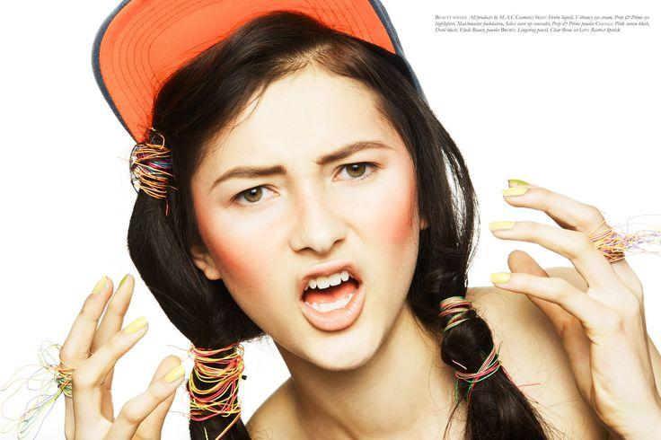 _black #15 _photography: gregory novak _fashion editor: rachael churchward _makeup: amber d for M.A.C. _hair: jason chong-li @ stephen marr _models: kendel @ clyne