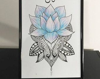 Lotus Mandala Art Print by RadioactivePandaShop on Etsy