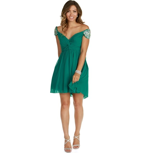 Promo- Melanie-Teal Homecoming Dress
