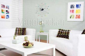 Snygga väggklockor från tillverkaren Karlsson. Spider Multicolor lämpar sig lika bra i hemmet som på kontoret. Snygg retrodesign som gör dig glad!