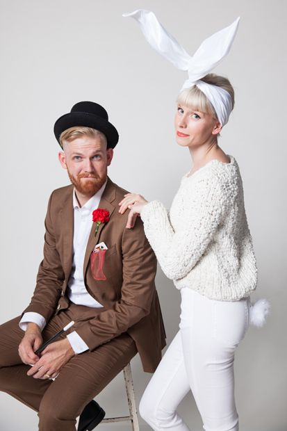 Magician & rabbit couples costume