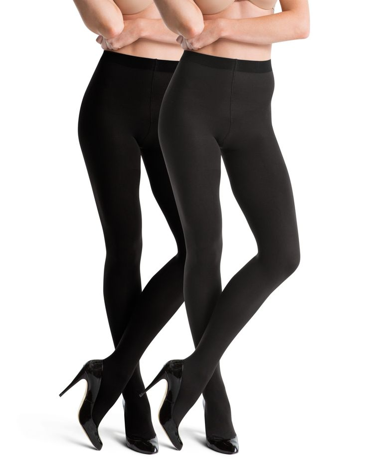 Spanx Tight End Reversible Tights Black/Charcoal