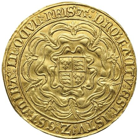 Rare English Gold Sovereign of Queen Mary I, back