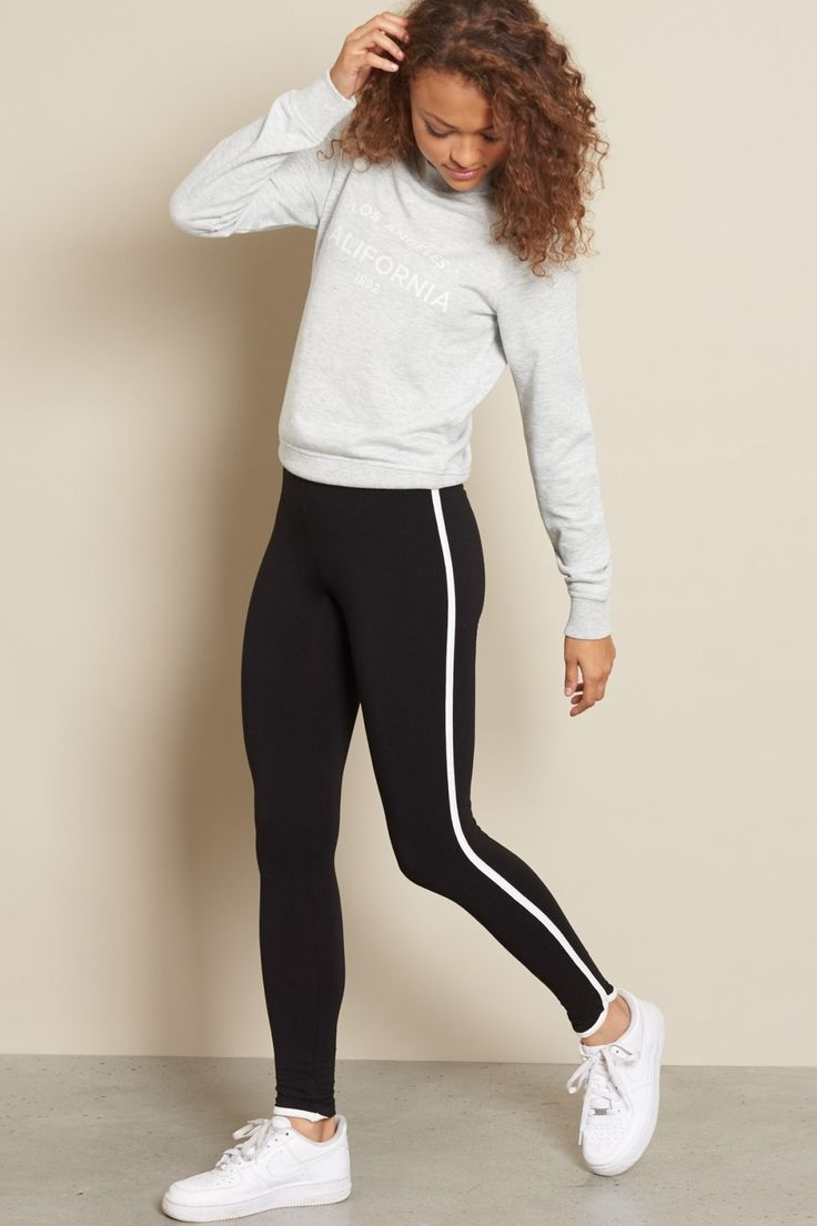 Side Stripe Legging | ★ New Arrivals ★ | Pinterest | Cas ...