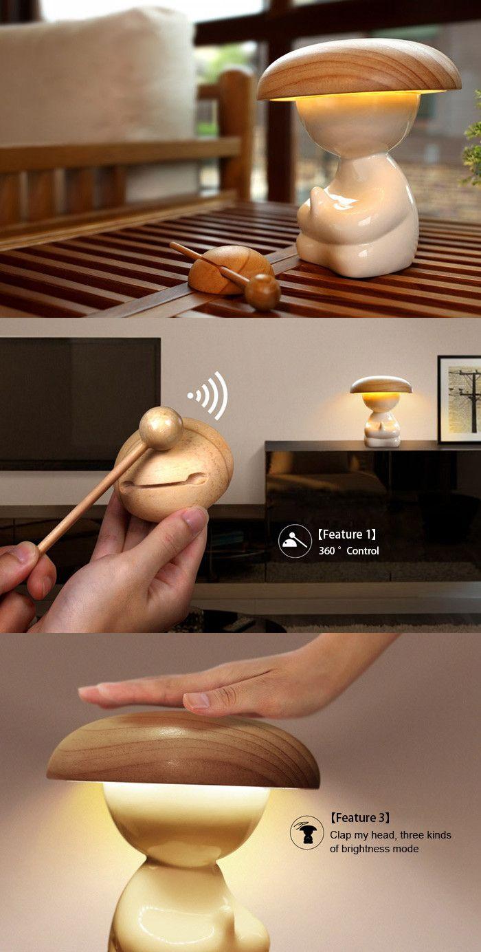 Ikkyu Design Wireless Control Air Purifier Lamp - WARM WHITE LIGHT