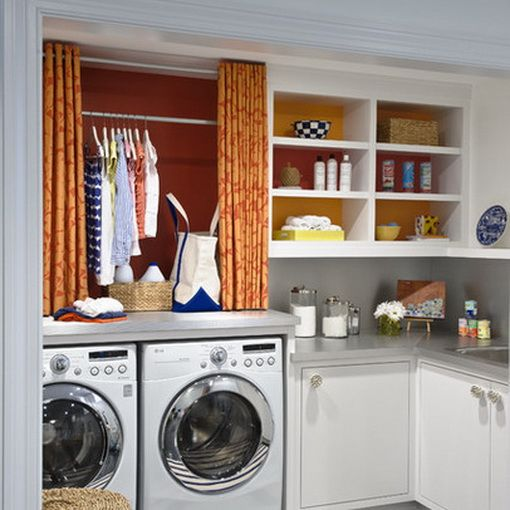 popular items laundry room decor. Laundry Room Ideas, Hanging Rod Behind Curtain; Something Tells Me I Would Never Close Popular Items Decor