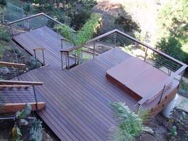 Modern hillside deck.  Oh, yeah.