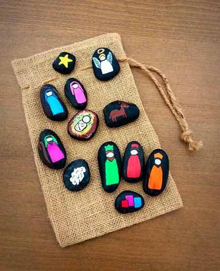 pesebre casero para navidad con piedras pintadas christmas decorations crafts diy