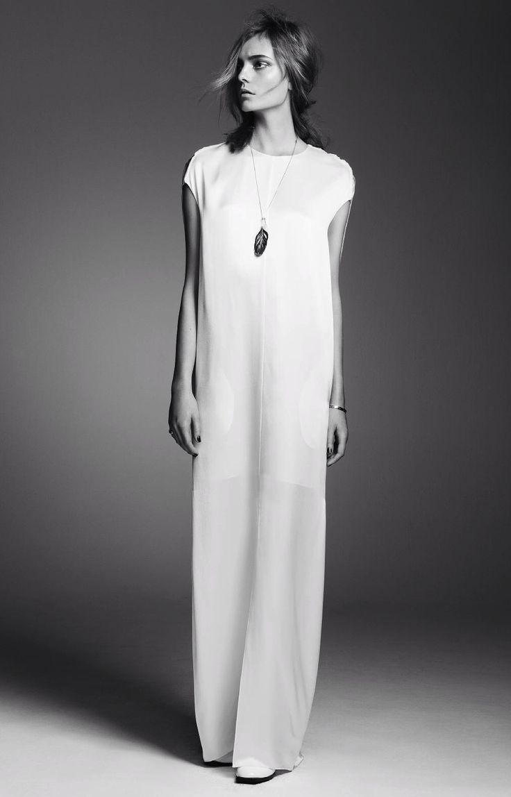 column maxi dress #style #fashion