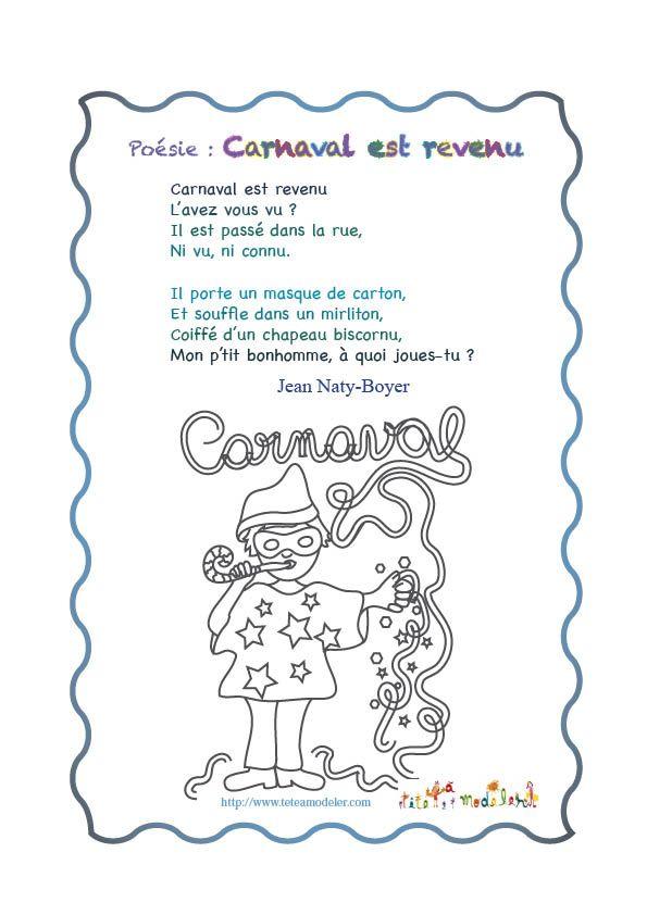 poeme sur le carnaval