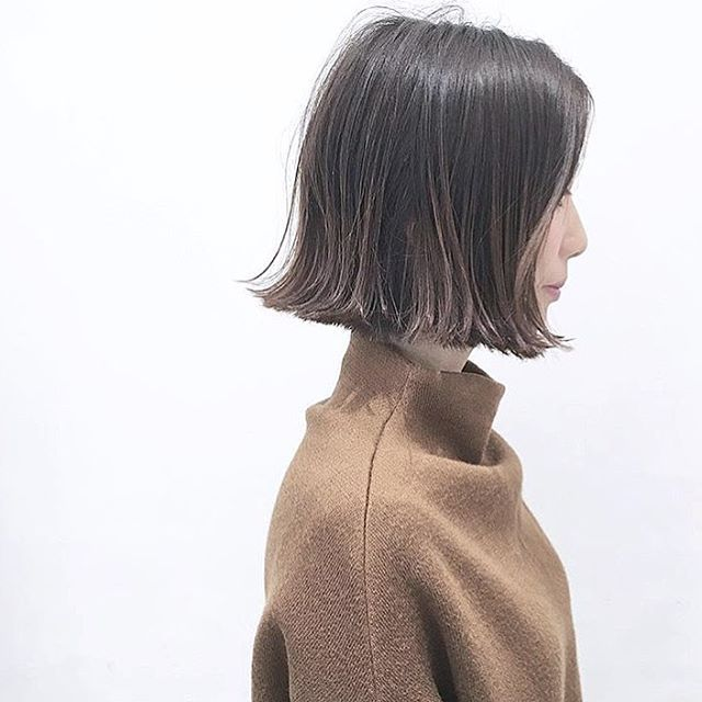 いいね!129件、コメント1件 ― ⌇⌇ SUZUKA  ⌇⌇さん(@____suzukahara____)のInstagramアカウント: 「ㅤㅤㅤㅤㅤㅤㅤㅤㅤㅤㅤㅤㅤ  切りっぱなしミニボブ  巻かずに、オイルをつけるだけ ㅤㅤㅤㅤㅤㅤㅤㅤㅤㅤㅤㅤㅤ エリ足ギリギリの長さです♡ スタイリングは、乾かして…」