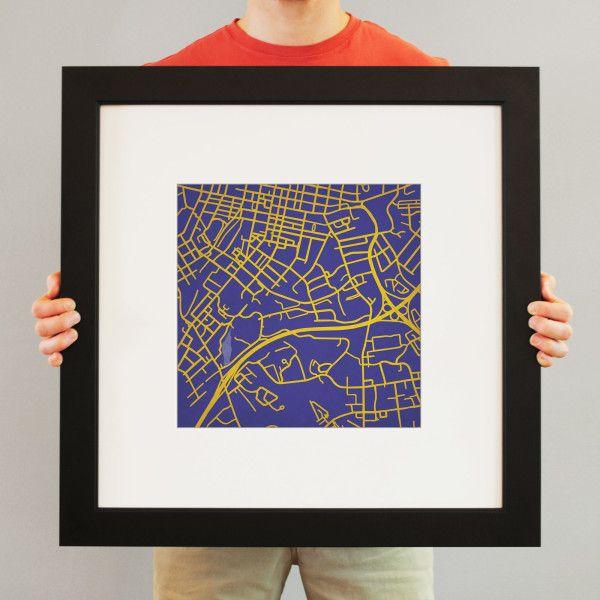 JMU Campus Map Art