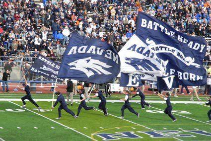 Nevada Wolf Pack football, cheer squad, Mackay Stadium, University of Nevada, Reno.
