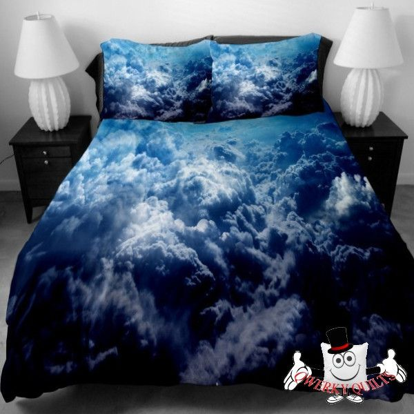 Blue Surging Clouds Galaxy Unique Bedding Set and Quilt Cover Visit: http://www.qwerkyquilts.com/collections/unique-galaxy-quilt-cover-bedding-sets/products/blue-surging-clouds-galaxy-bedding-set-and-quilt-cover