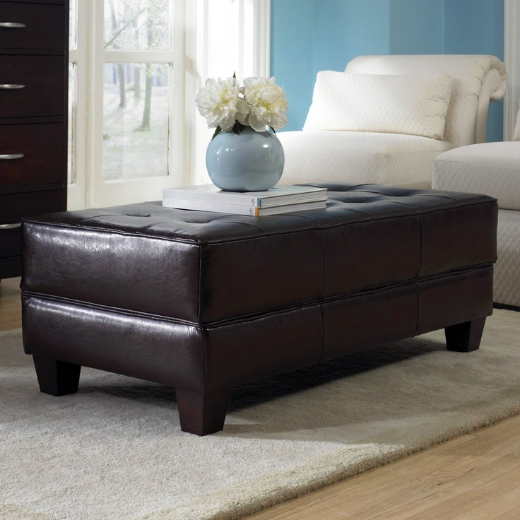 riverside saxon faux leather large cocktail storage ottoman coffee table home pinterest. Black Bedroom Furniture Sets. Home Design Ideas