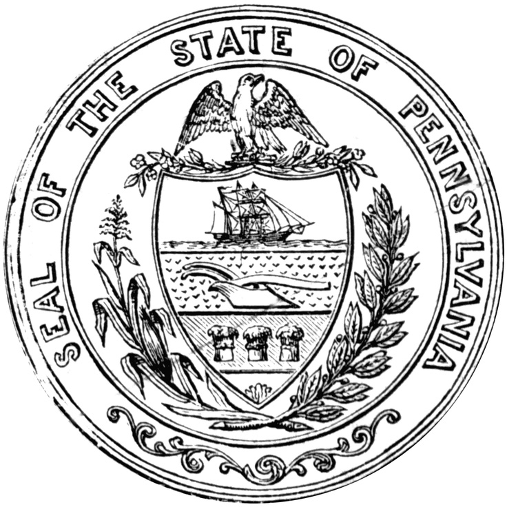 pennsylania state symbols coloring pages | 245 best States...Pennsylvania images on Pinterest ...