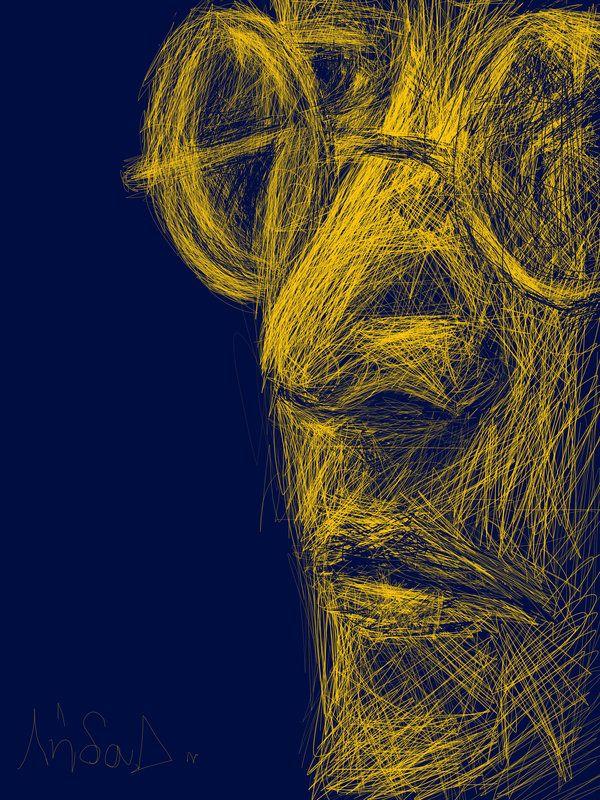John Lennon Sketch by imLetha.deviantart.com